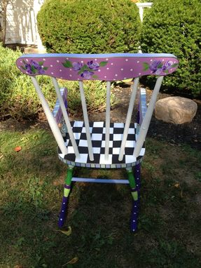 Custom Made Custom Hand Painted Childs Rocking Chair