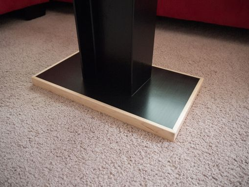 Custom Made Steel, Granite And Maple End Tables