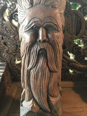 Custom Made Bearded Man Carving