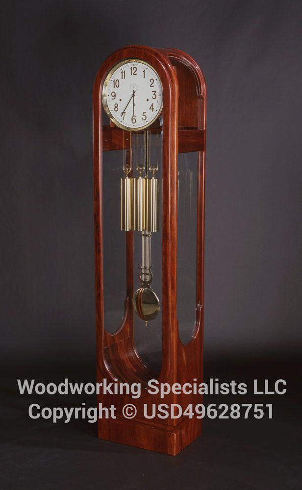 Custom Made Contemporary Grandfather Clock By Woodworking