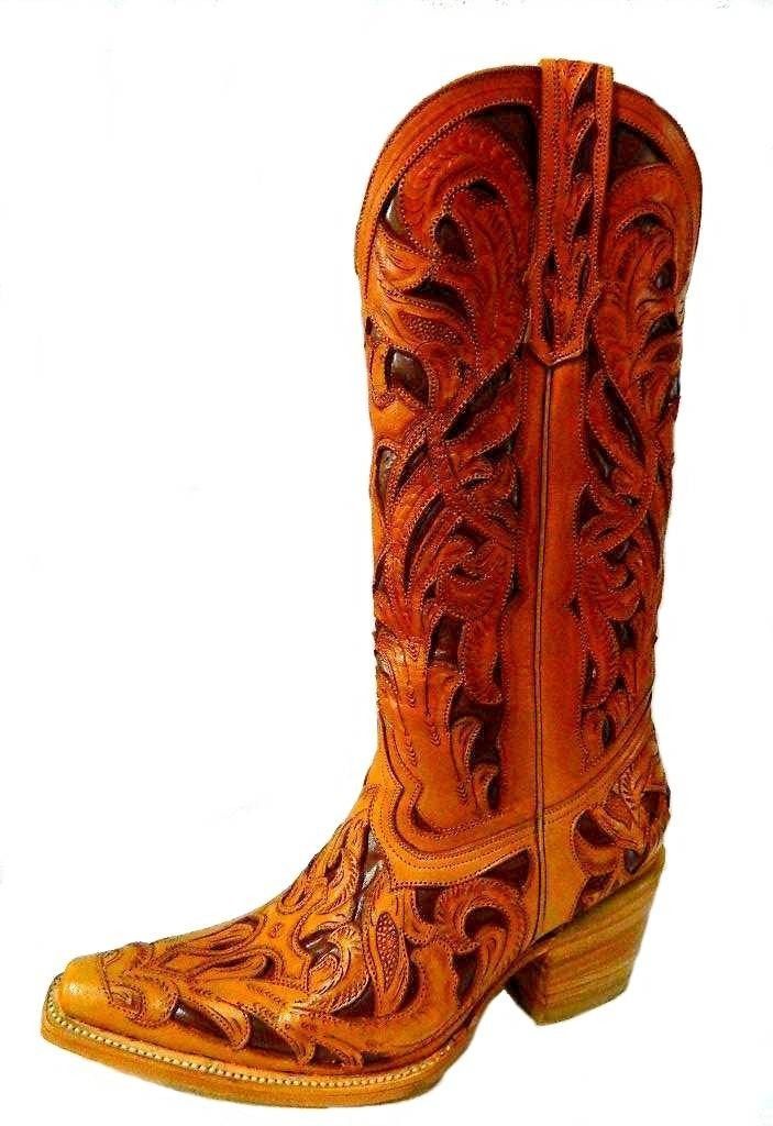 Custom Hand Tooled Cowboy Boot Made To Order Any Style From ...