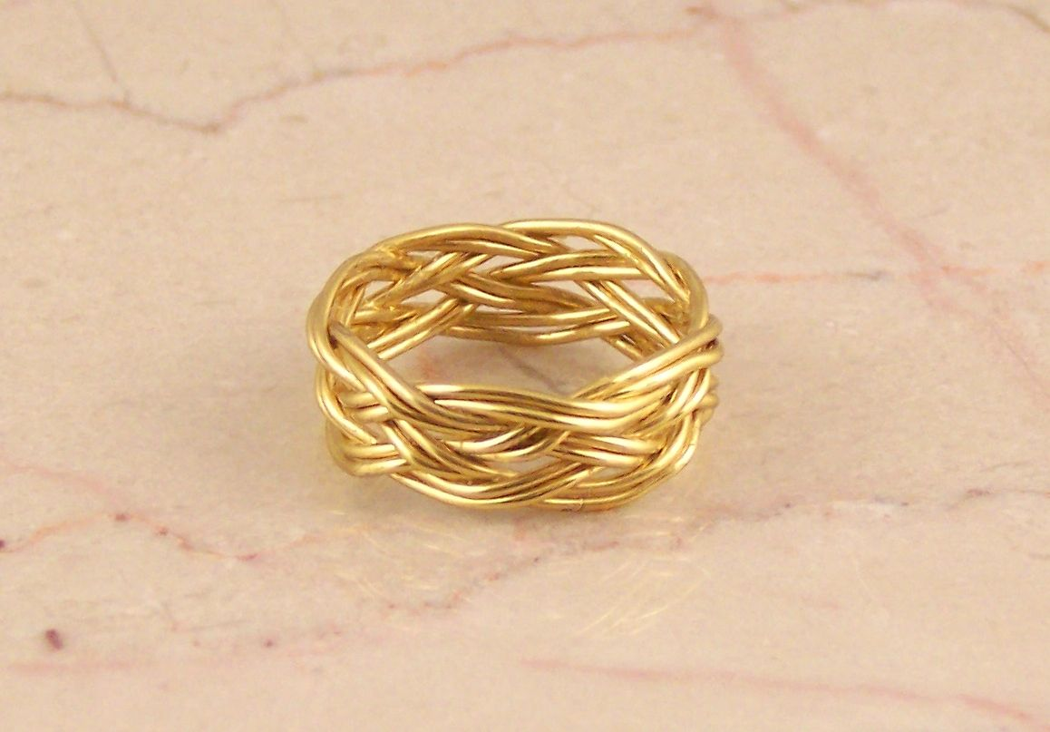 Buy a Hand Crafted 18k Yellow Gold Wire Doubled Turk\'s Head Celtic ...