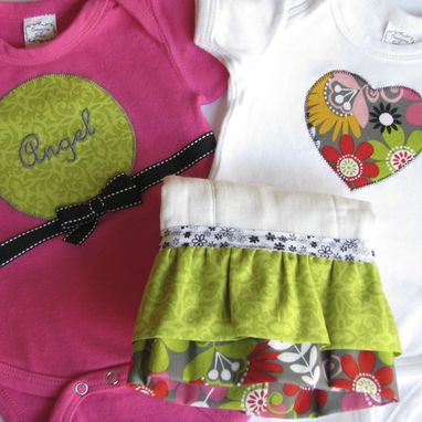 Custom Made Personalized Baby Girl Gift Set