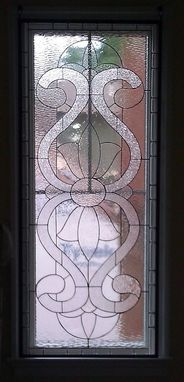 Custom Made Large Traditional Stained Glass Window Panel  (W-16)