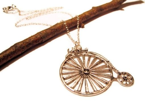 Custom Made Favorite Like This Item? Add It To Your Favorites To Revisit It Later. Silver Bicycle Necklace