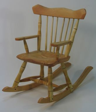 Custom Made Child's Windsor Rocking Chair