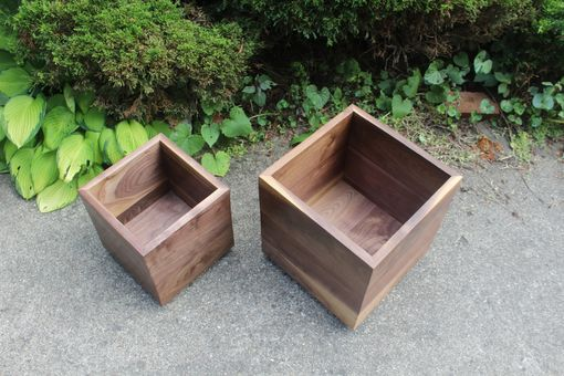 Custom Made Walnut Table/Boxes On Casters