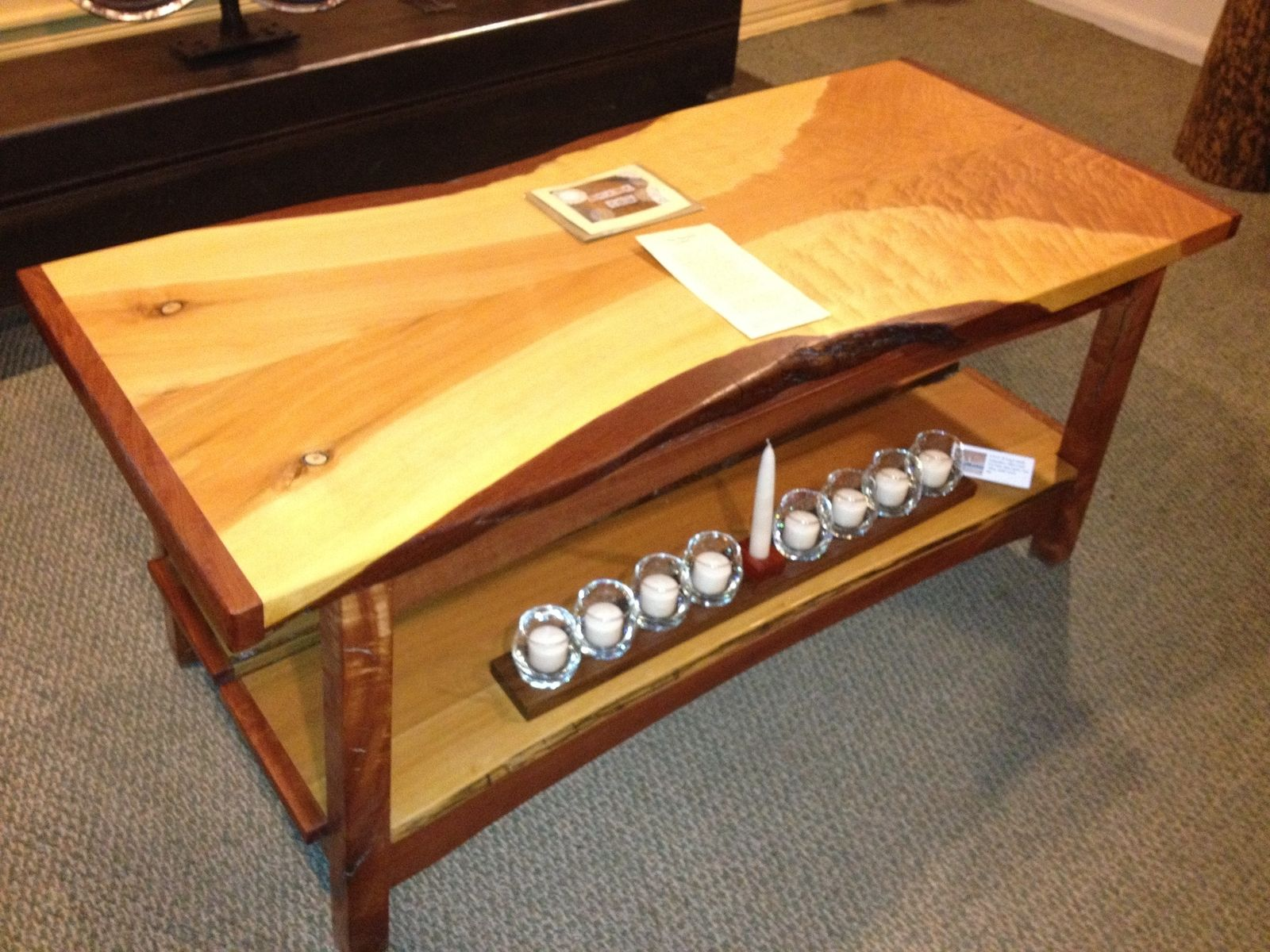 Custom Made Slab Top Coffee Table Phoenix Table by Natural Edge