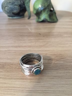 Custom Made Opal Sterling Silver Ring