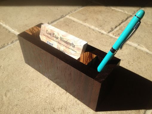 Custom Made Business Card & Pen Holders