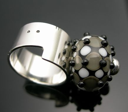 Custom Made Interchangeable Silver Bead Ring
