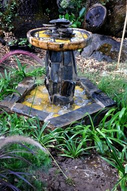 "Custom Made Rustic Water Fountain ""The Melones''"