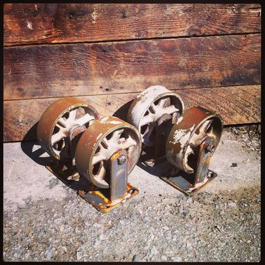 Custom Made Vintage Industrial Casters