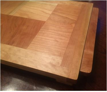 Custom Made Cherry Butcher Block Cutting Board And Serving Tray