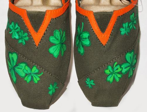 Custom Made St. Patricks Day Custom Painted Shoes Or Other Holiday