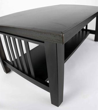 Custom Made Coffee Table – Steel Mission Style
