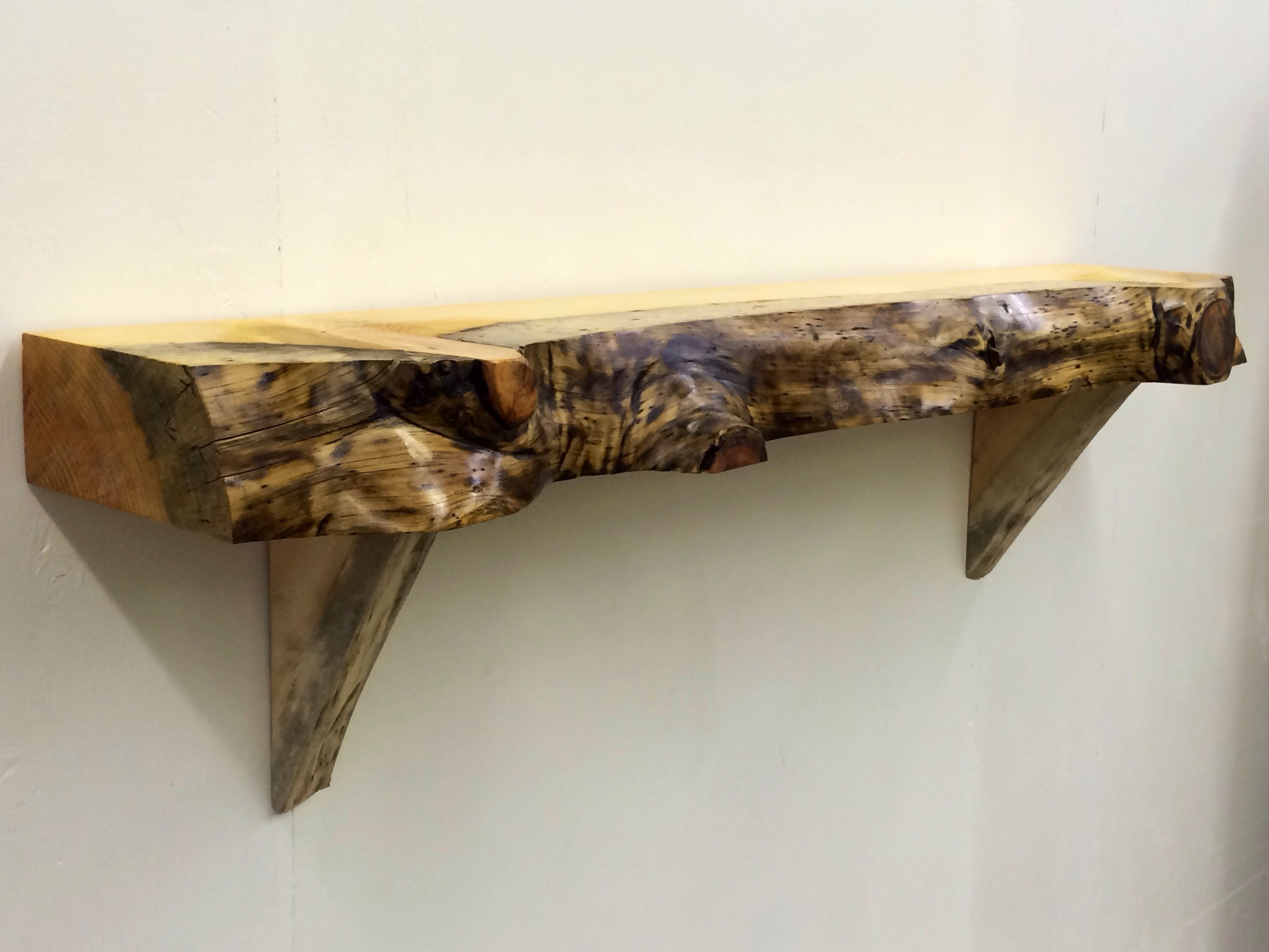 handmade fireplace mantels with a live edge by log hunter llc