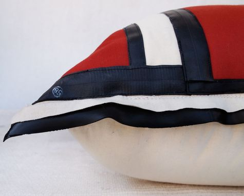 Custom Made Recycled Bicycle Inner Tube And Wool Oversized Floor Pillows