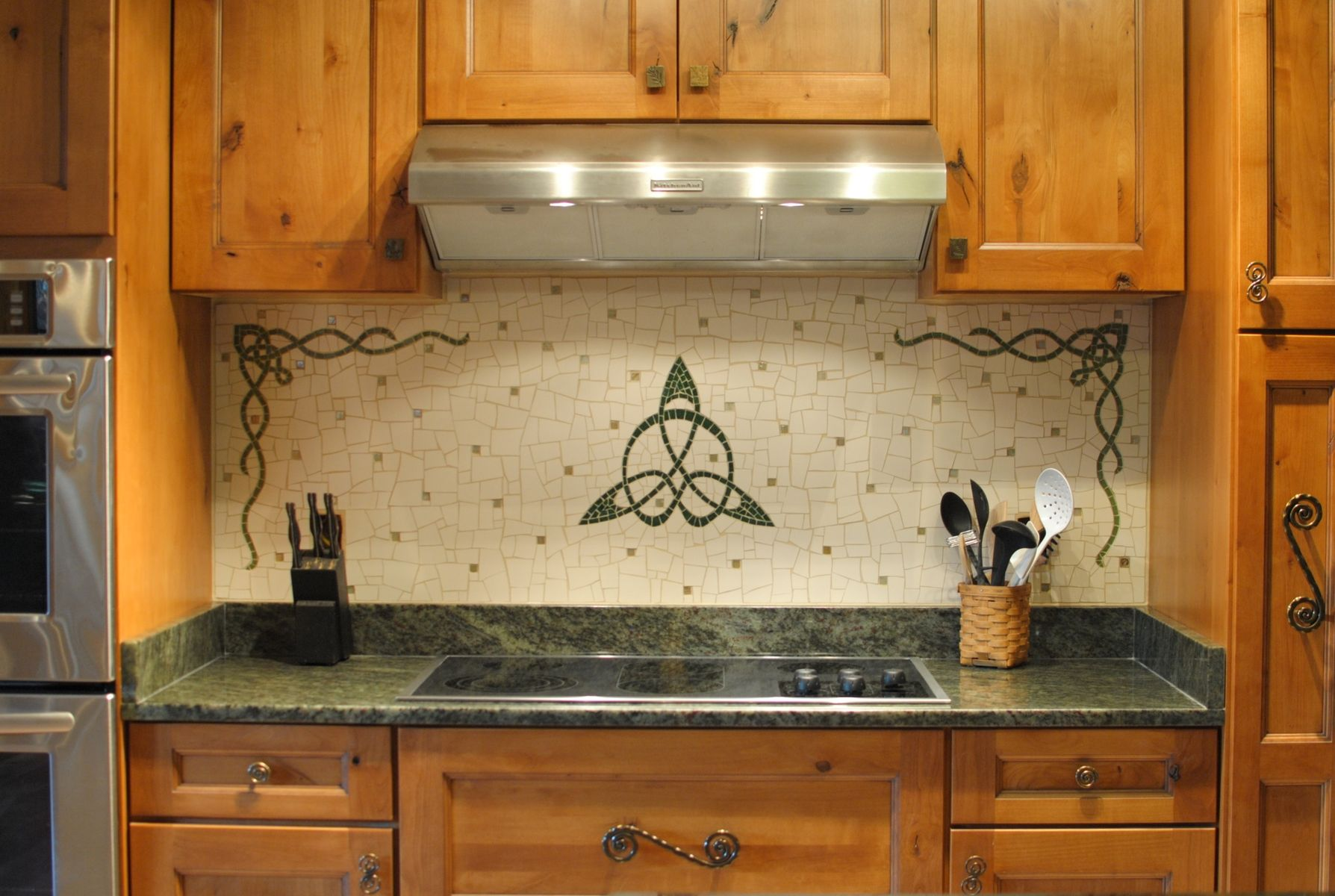 Custom Made Celtic Kitchen Backsplash By Phoenix Handcraft