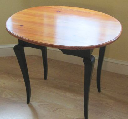 Custom Made Elliptical End Table