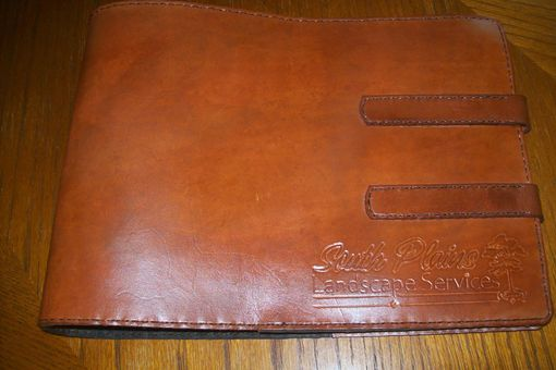 Custom Made Custom Leather Business Checkbook Cover