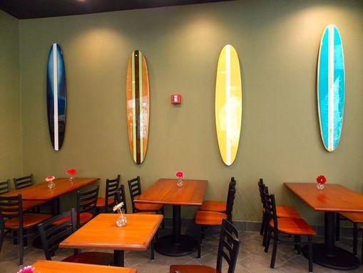 Custom Made Restaurant Beach Decor, Surfboard Wall Hangings