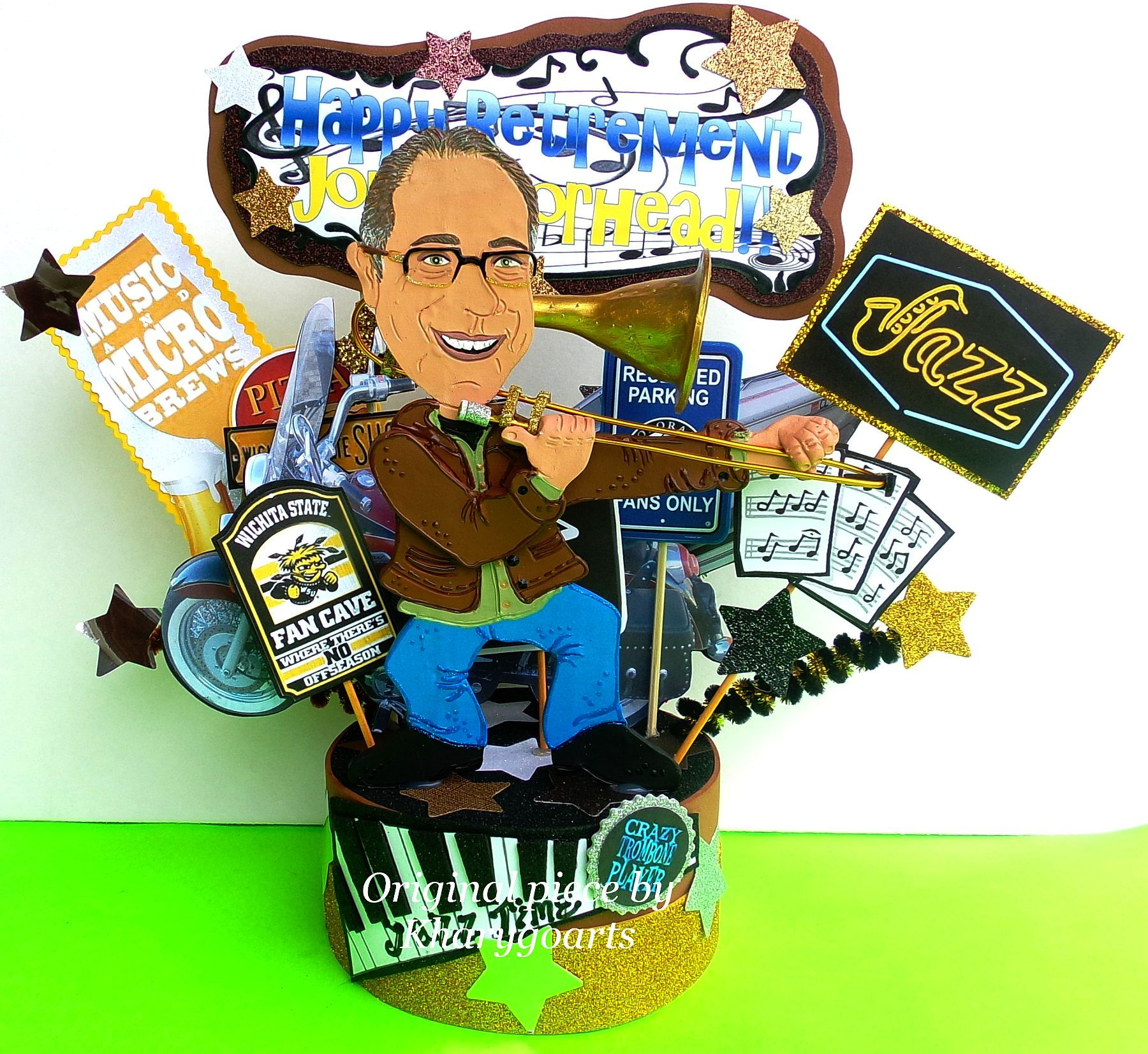 Hand Crafted Artist Composer Singer Actor Look Alike Birthday Cake