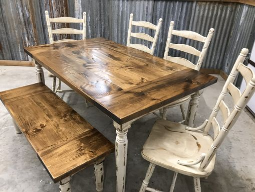 Custom Made Six Person Classic Farmhouse Table