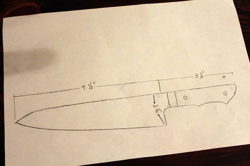 Custom Made 9.5 In Chefs Knife