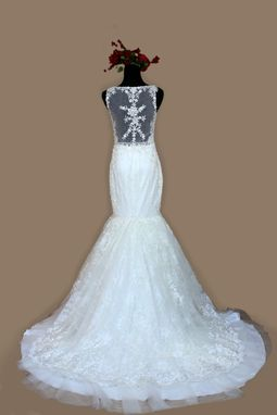 Custom Made Lace Trumpet Wedding Dress
