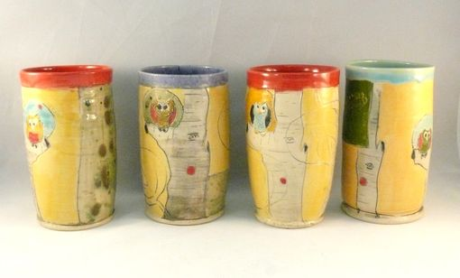Custom Made Set Of Two: Toothbrush Holders, Pencil Holders, Tumblers