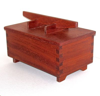 Custom Made Mahogany And Teak Keepsake Box