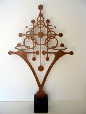 "Custom Made Mahogany Sculpture ""Atomic"" Art Nouveau"