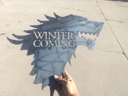 Custom Made Winter Is Coming Wall Plaque Or Trivet