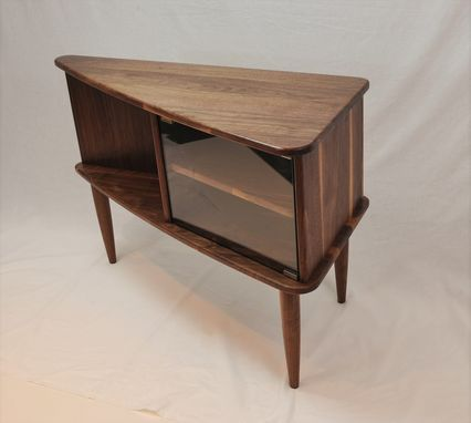 Custom Made Modern Walnut Media Cabinet