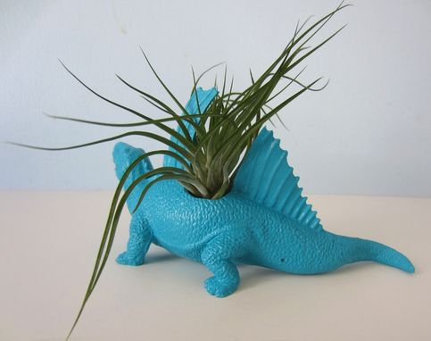 Custom Made Upcycled Dinosaur Planter - Dimetrodon With Tillandsia Air Plant In Multiple Colors