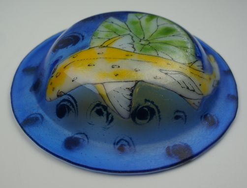 "Custom Made Glass Fused Bowl - ""Fish Bowl"""