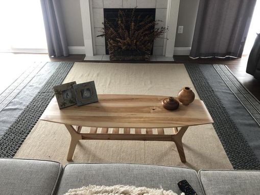 Custom Made Spicoli Danish Surfboard Coffee Table In Hard Maple