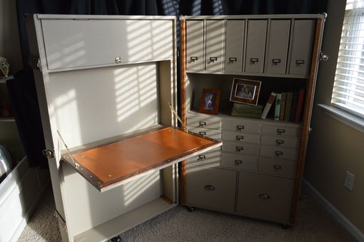Custom Made Steamer Trunk Desk & Secretary
