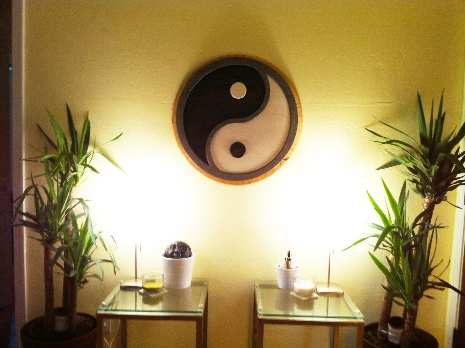 Hand Made Custom Commissioned Layered Yin Yang Wall Art by Kneeland ...