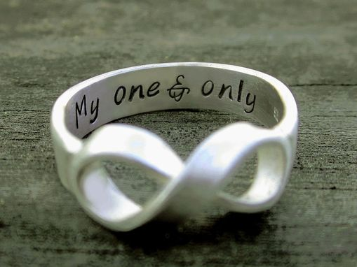 Custom Made Personalized Sterling Silver Infinity Ring