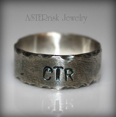 Custom Made Ctr Ring, Hammered Brushed And Oxidized