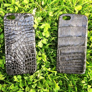 Custom Made Black Alligator Iphone 5 Cases