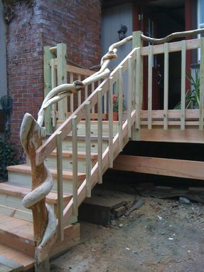Custom Made Custom Porch With Vines For A Railing