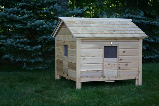 Custom Made Cedar Duck Hutch / Chicken Coop