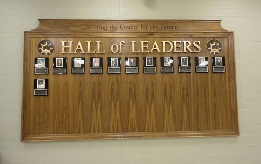 "Custom Made ""Hall Of Leaders""  Display Board"