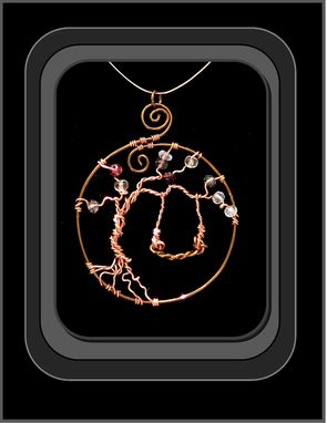 Custom Made Artist Jewelry,Tree Swing Necklace,One Of A Kind,Tree Of Life Jewelry,Tree Jewelry, Zen Jewelry