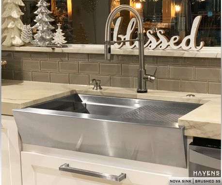 Custom Made Custom Stainless Steel Sink - Undermount And Top Mount