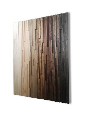 Custom Made Rustic Wood Wall Art, Gradient Ombre Art, Abstract Wall Art, Wall Art Wood