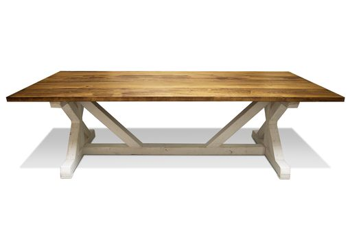 Custom Made Fancy X Farmhouse Dining Table
